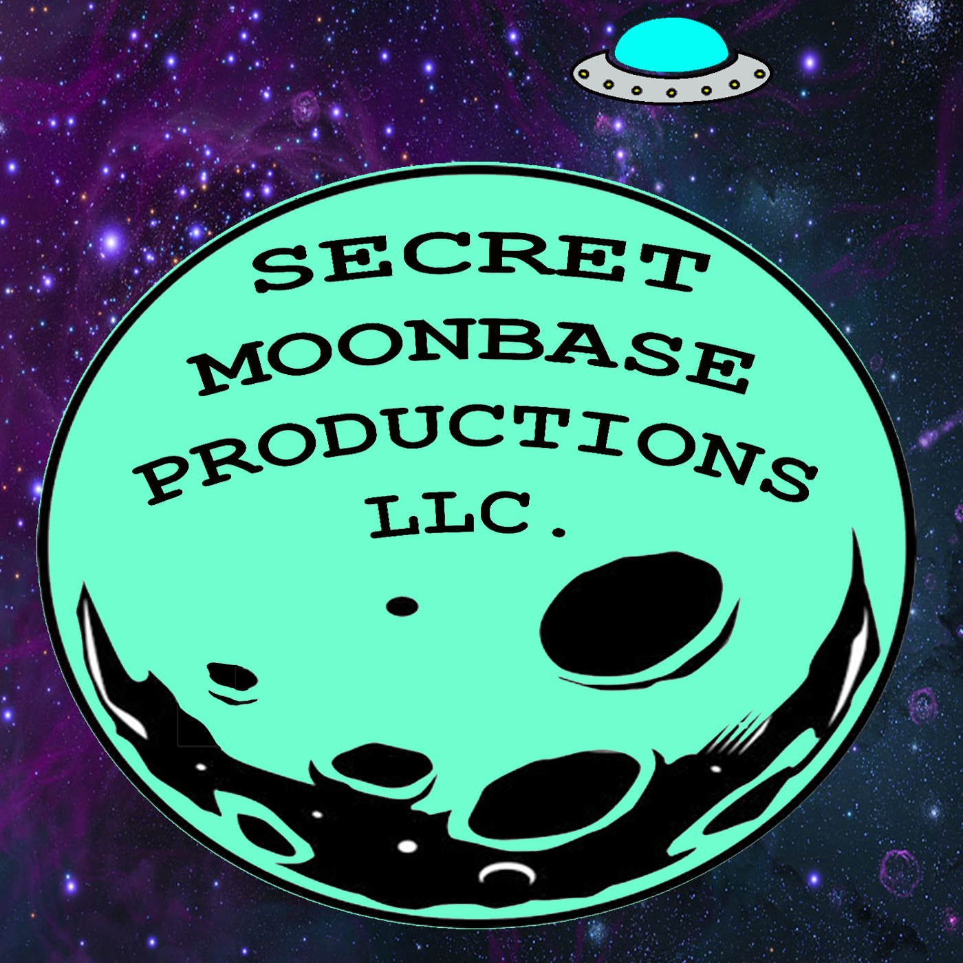 Secret Moonbase Logo with Starts